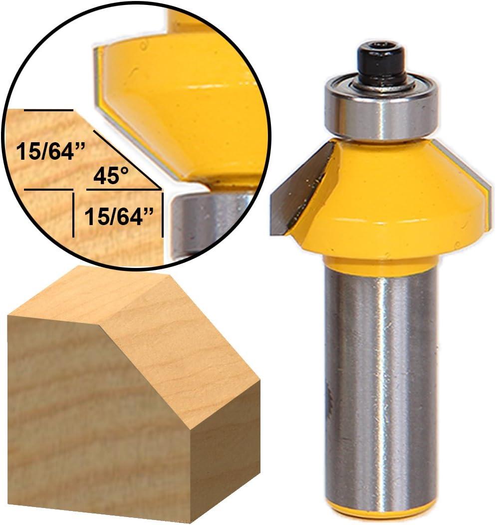 13104 Smusso a 45 gradi//tagliente conico con piccolo gambo 1//2-pollice