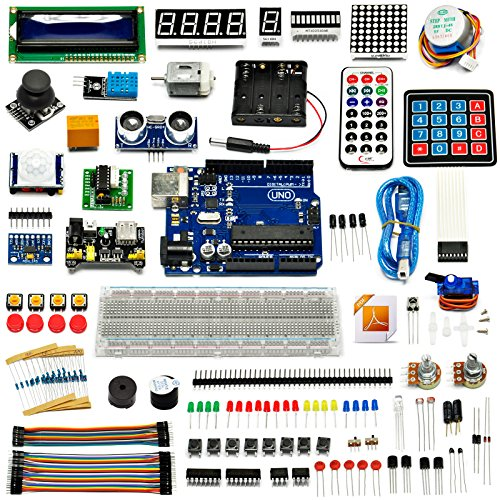 Gikfun Ultimate Starter learning Kit for Arduino UNO R3 LCD1602 Servo Motor Diy EK8450 (Remote Ir Programmer)