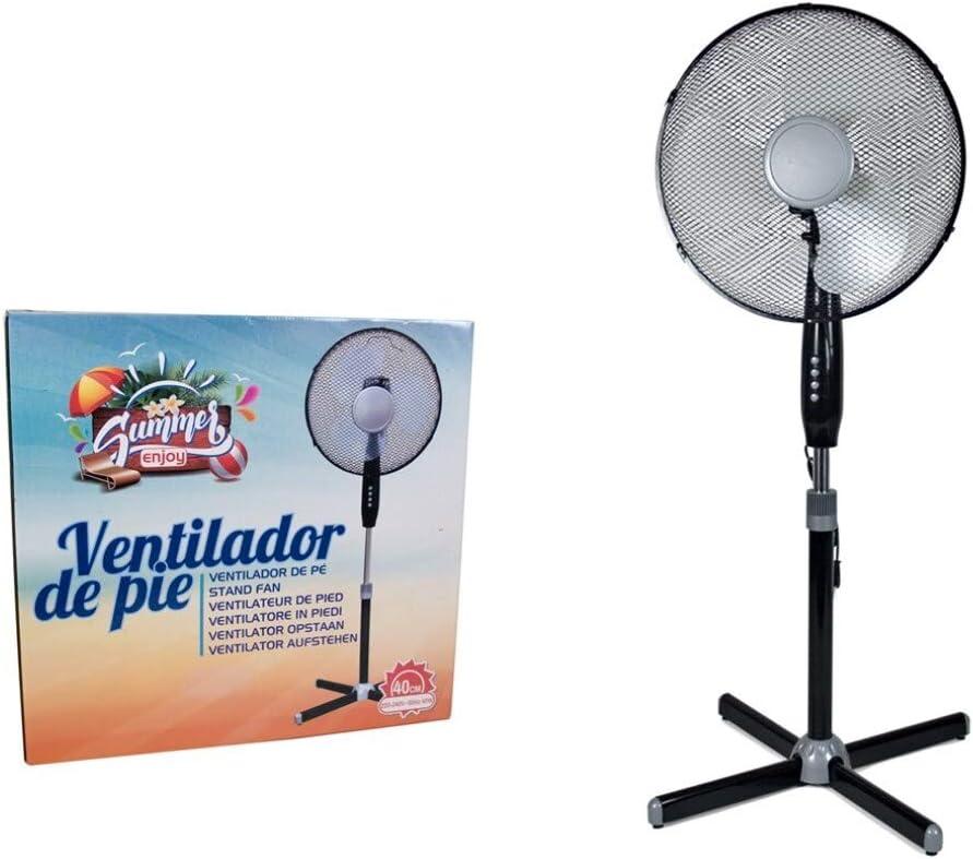Gerimport Ventilador DE PIE 40CM 45W 3 VELOCIDADES