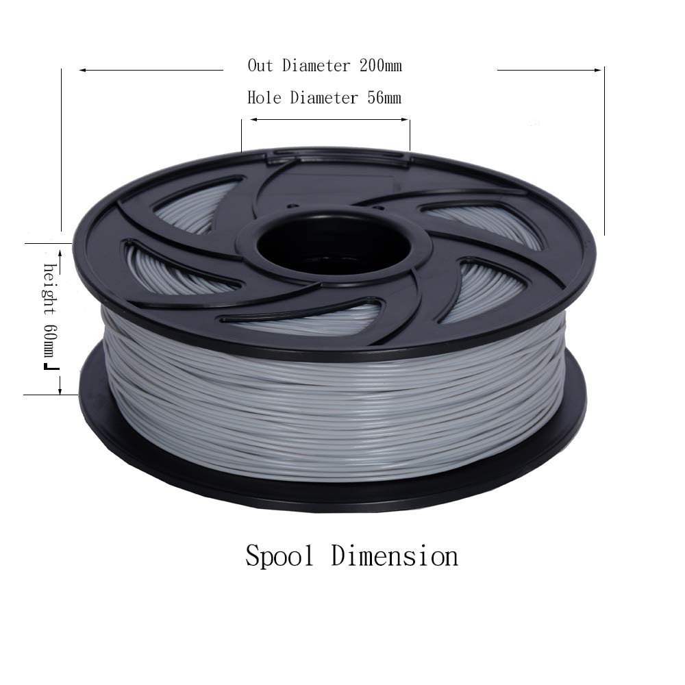 // 0.05 mm 2.2 LB Spool DIY Material Tools Grey LEE FUNG 1.75mm ABS 3D Printing Filament Dimensional Accuracy