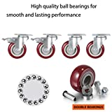 Coocheer 4'' Swivel Caster Wheels with Top