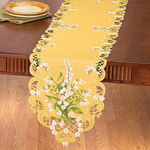 Wedding Flowers Linens Yellow Runner