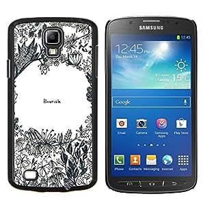 TECHCASE---Cubierta de la caja de protección para la piel dura ** Samsung Galaxy S4 Active i9295 ** --Flores Cita inspirada del arte