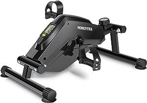 Under Desk Bike Pedal Exerciser, Mini Floor Peddler for Adults Seniors Arm Leg Exercise at Home Office - Black