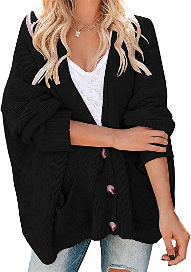 Women Sweater Open Front Casual Long Sleeve Loose Classic Cardigan Plus Size 5XL