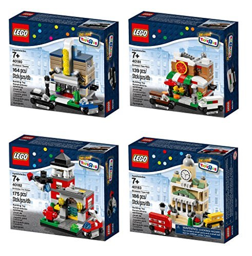 Lego Exclusive 2014 Bricktober Set of Four - Theater (40180), Pizza Place (40181), Fire Station (40182), Town Hall (40183)