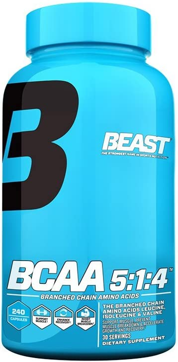 Beast Sports Nutrition, BCAA 5 1 4, 240 Count