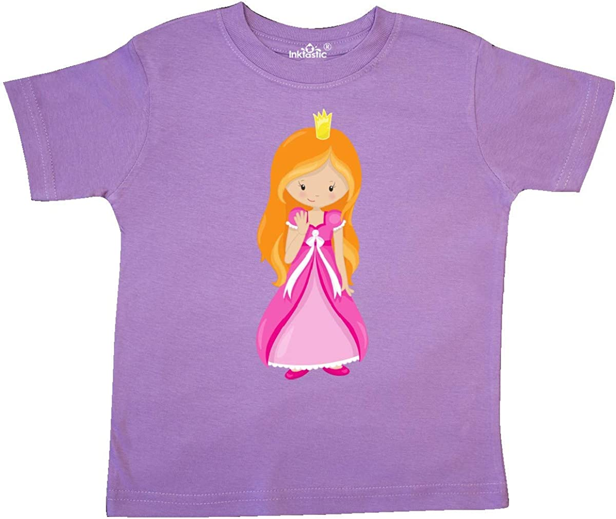 Orange Hair inktastic Cute Princess Princess in Pink Dress Toddler T-Shirt