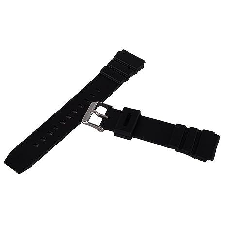18mm Silicon Reloj Banda Muñequera para Deporte Unisex Negro