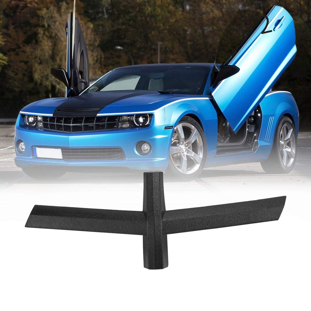 BUNKER INDUST 2010-2013 Camaro Black Bow Tie Front Grill Emblem Delete Removes Chevy Logo on Grille