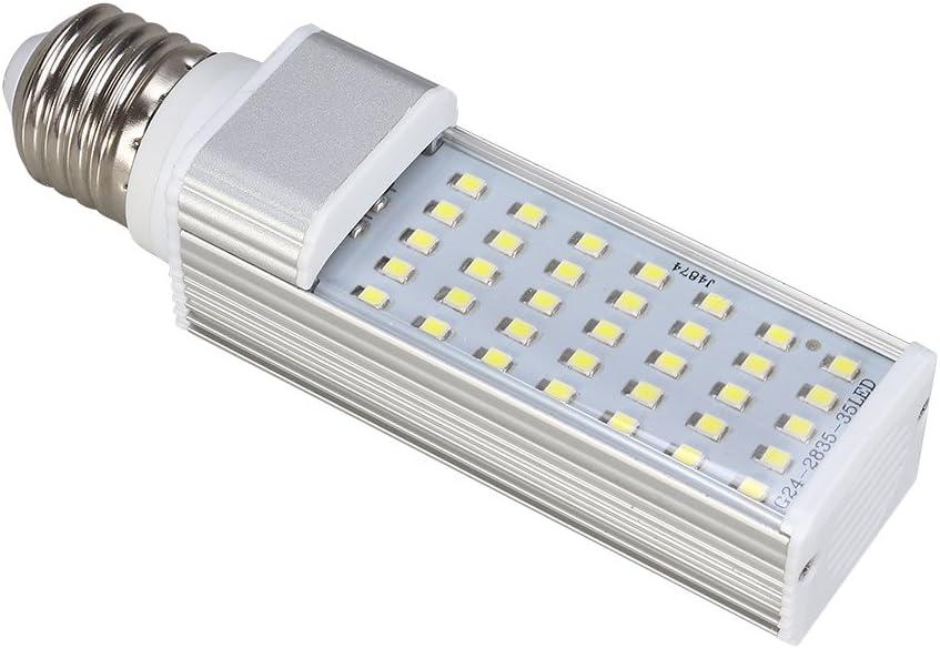 UEETEK 5W E27 LED Aquarium Light, Energy Saving Lamp to Fit All Fish Box Aquariums, High Illumination Fish Tank Light for Freshwater Tank (White)