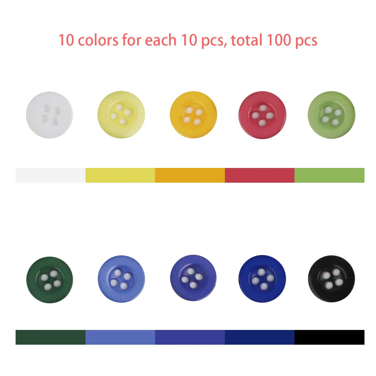 6 Botones de Madera Rojo Brillante dos agujeros álbumes de recortes, 30 mm Ideal para coser