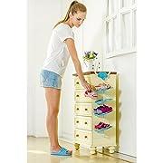 LUCKSTAR Children Shoe Rack - Hanging Shoes Rack - Storage Organizer Shoes Stand Shelf Kids (Blue Elephant)