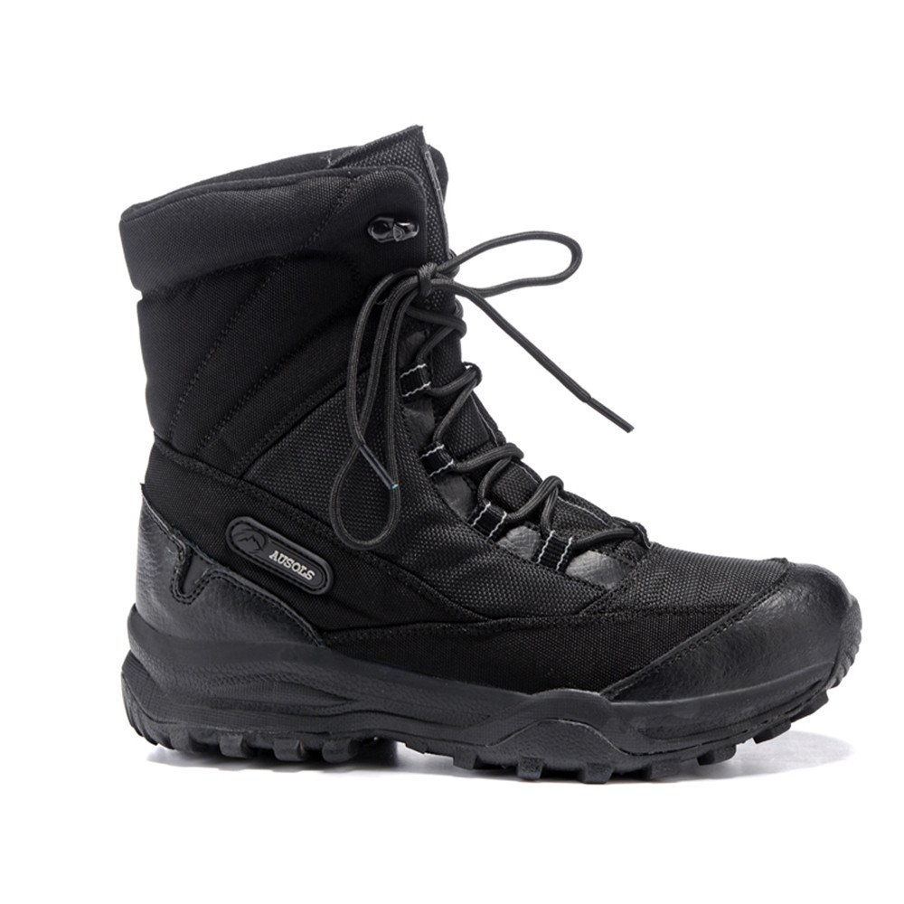 Winter plus cashmere, warm waterproof shoes, plus cashmere, warm waterproof, anti-skid travel, ski shoes, high boots, outdoor snow boots,39 black
