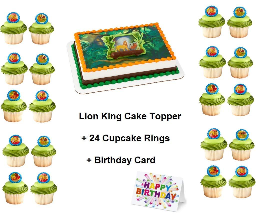 Amazon.com: Lion Guard Simba Cake Topper Set Cupcake 24 ...