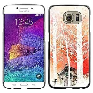 Exotic-Star ( Nature Japanese Fantasy Forrest ) Fundas Cover Cubre Hard Case Cover para Samsung Galaxy S6 / SM-G920 / SM-G920A / SM-G920T / SM-G920F / SM-G920I