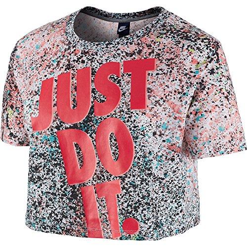 Camiseta Nike �?Prep Crop Aop Jdi Rojo Lava/Multicolor L