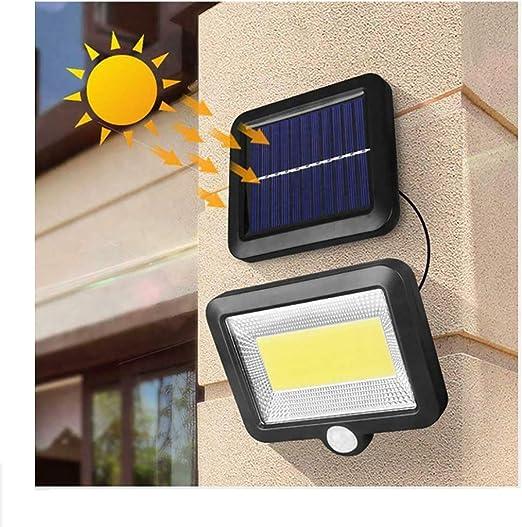 LED Solar Floodlight PIR Sensor Motion Security Flood Light Lamp IP65 Outdoor