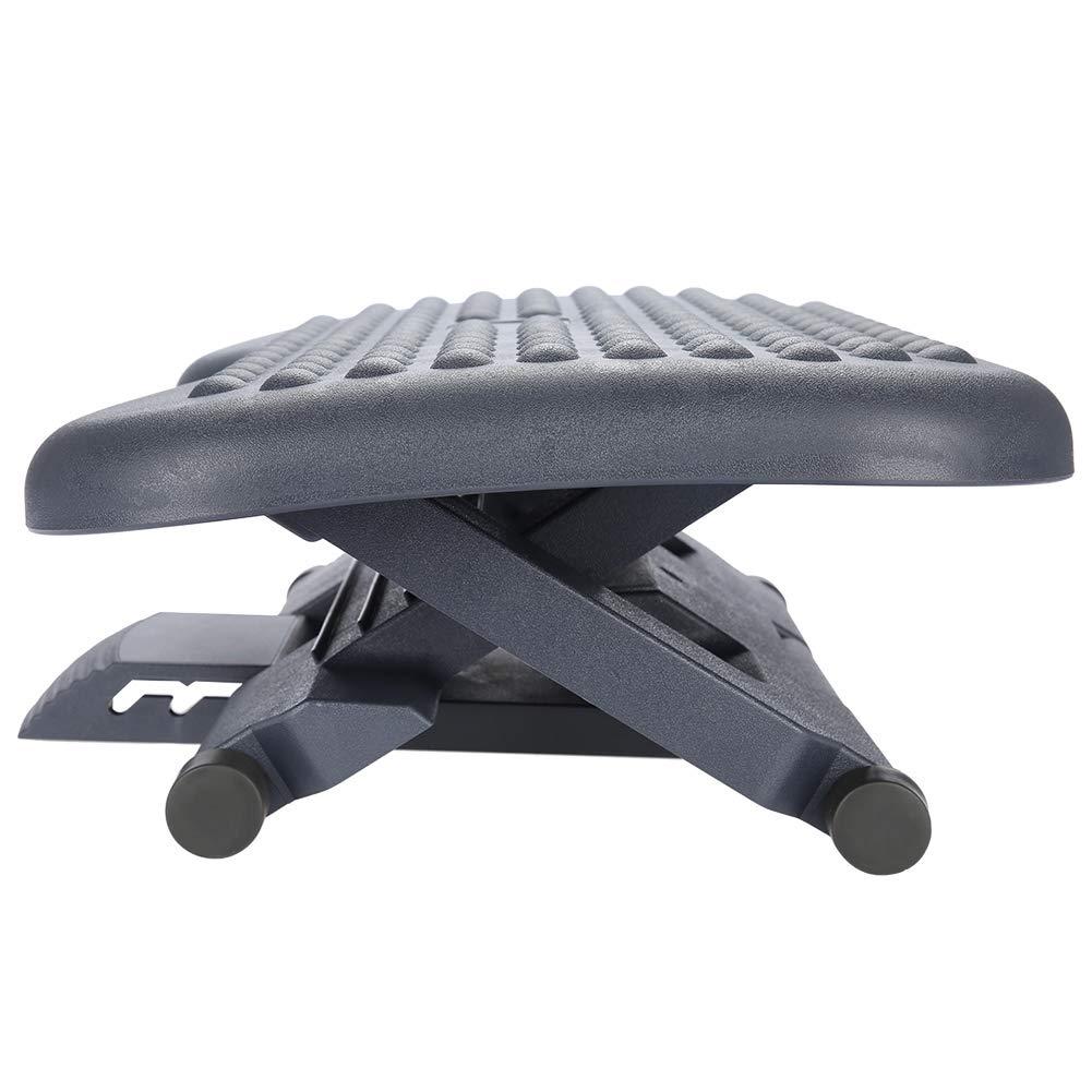 GOTOTOP 3pcs Poggiapiedi per Ufficio scrivania,Base Regolabile poggiapiedi,Ergonomico per Massaggio dei Piedi,45.7 x 35.4 x 11cm
