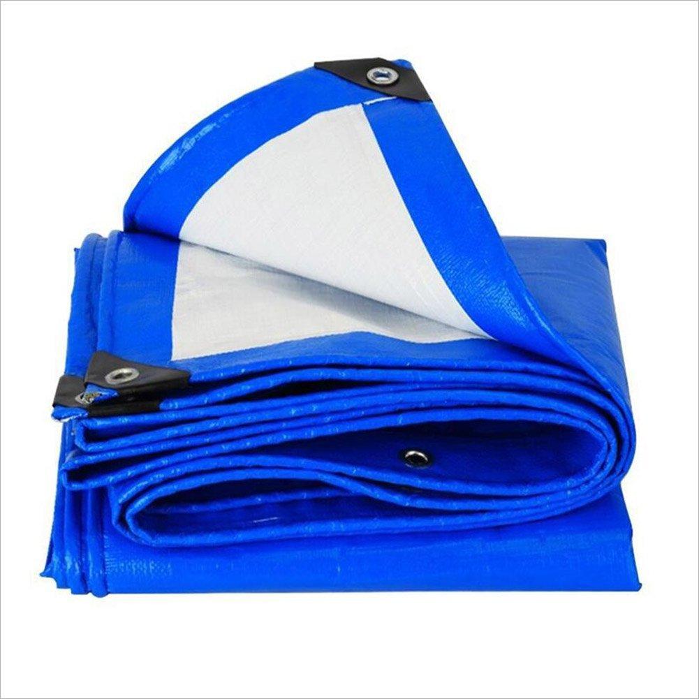 DYFYMXOutdoor Ausrüstung Thick Plane blau, Anti-Korrosions-Anti-Aging LKW Plane Plane Isolierung @