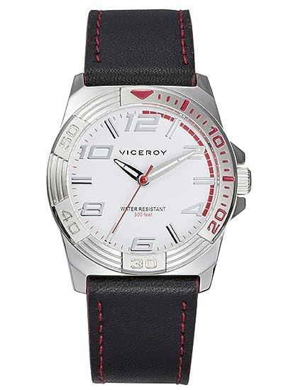 Viceroy Reloj Analogico para Chicos de Cuarzo con Correa en Cuero 46607-05: Amazon.es: Relojes
