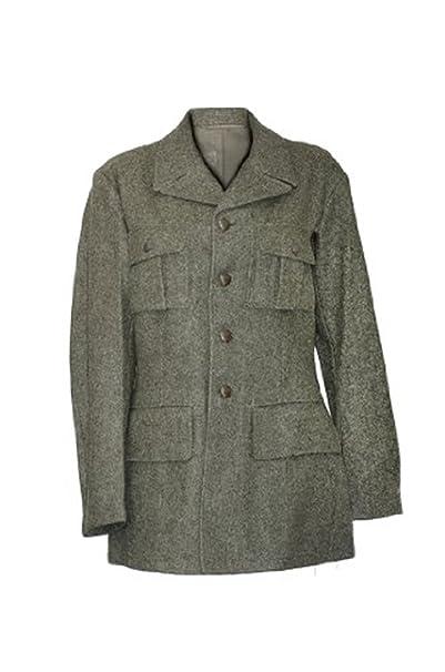 Vintage. Chaqueta de lana del ejercito Sueco. Surplus militar. Para Hombre. Verde/Gris Talla L: Amazon.es: Ropa y accesorios