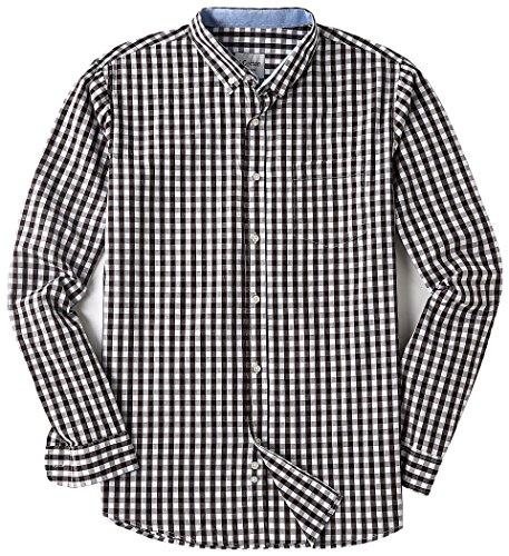 Men's Long Sleeve Regular Fit Plaid Button Down Casual Shirts Coffee XX-Large - Multi Color Plaid Shirt