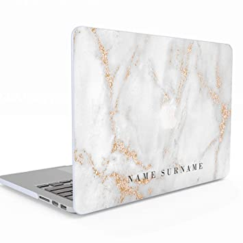 best loved 9b73f 60e42 Personalised White Gold Marble Name Surname Quote Custom Personalised  MacBook Pro 13 Inch Case Retina Display NO CD-ROM Model: A1502 / A1425  Release ...