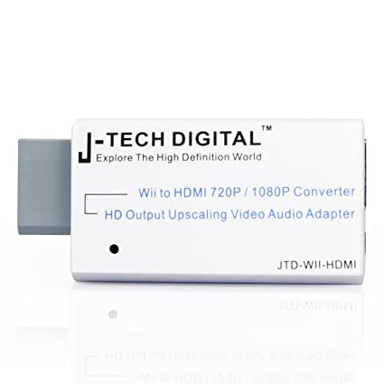 J-Tech Digital JTD-WII-HDMI Wii to HDMI 720P/1080P Converter HD Output  Upscaling Video/Audio Adapter