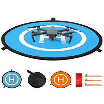 Drone Landing Pad, 75cm Pista de Aterrizaje Impermeable para dji ...