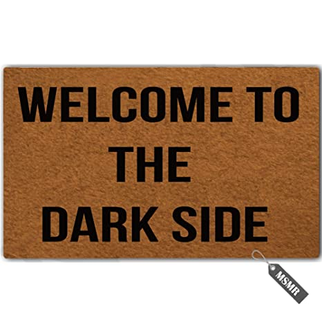 2f1c31516abb Amazon.com : MsMr Funny Door Mat Welcome to The Dark Side Decorative ...