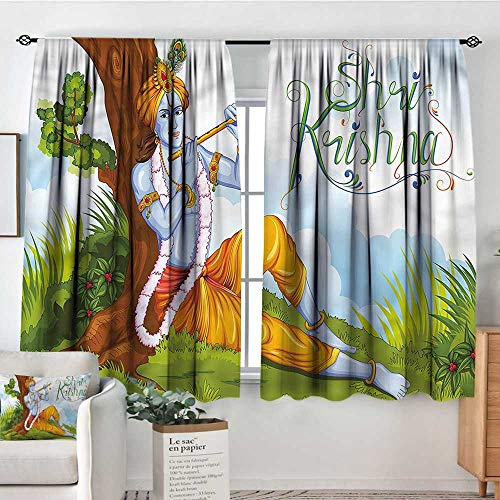 Ethnic,Backout Boy Curtains Playing Flute Forest 104