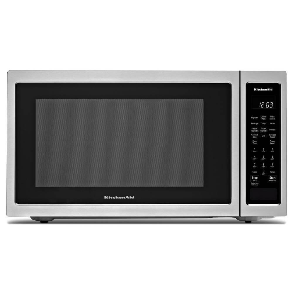 "KitchenAid 21 3/4"" Countertop Convection Microwave Oven - 1000 Watt KMCC5015GSS"