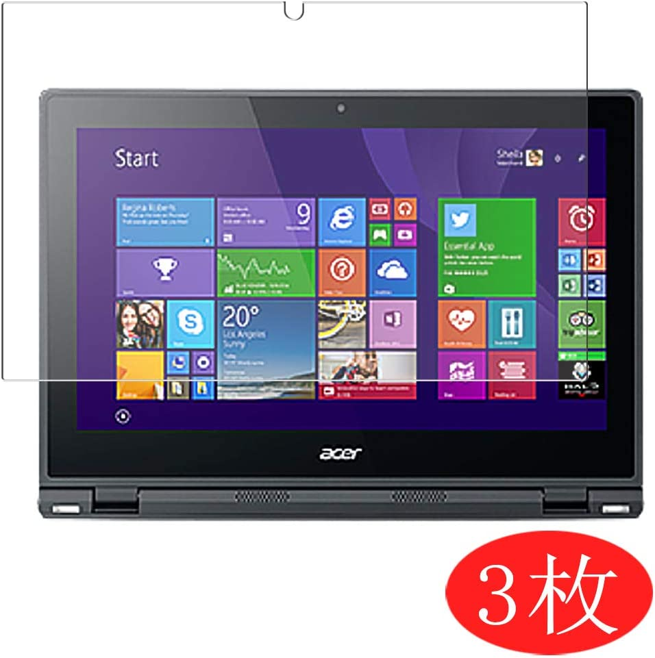 """【3 Pack】 Synvy Screen Protector for Acer Aspire Switch 12 SW5-271 12.5"""" TPU Flexible HD Film Protective Protectors [Not Tempered Glass]"""