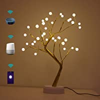 LED Table Lamp Smart WiFi Compatible with Alexa, Google Home|Beside Lamp USB Powered|Warm White String|Flexible Branch…