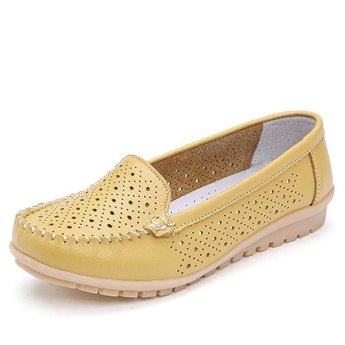 Mine Tom Mujer Chicas Moda Zapatos Hueco Mocasín Zapatillas Verano Zapatos Del Barco Estilo Casual: Amazon.es: Ropa y accesorios