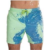Lorata Traje de Baño Hombre Cambia de Color Bañador Corto para Playa Sensible a la Temperatura Natación Piscina Secado Rápido con Forro de Mallas