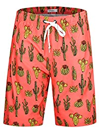 APTRO Men's Swim Shorts Colorful Bathing Suit with No Mesh Lining