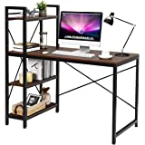 Tangkula Computer Desk with 4 Tier Shelves, Study Writing Table with Storage Bookshelves, Modern Compact Home Office…
