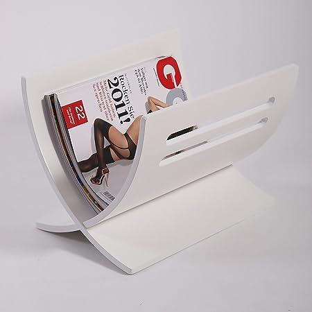 Design Newspaper Rack Magazine Box News Paper Basket Brown