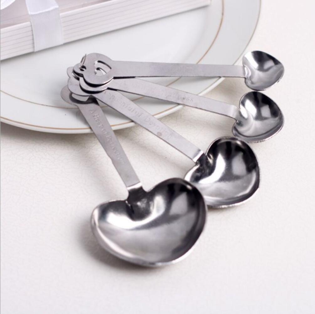 Amazon.com: Stainless Steel Measuring Spoon Set, Sacow 4Pcs Heart ...