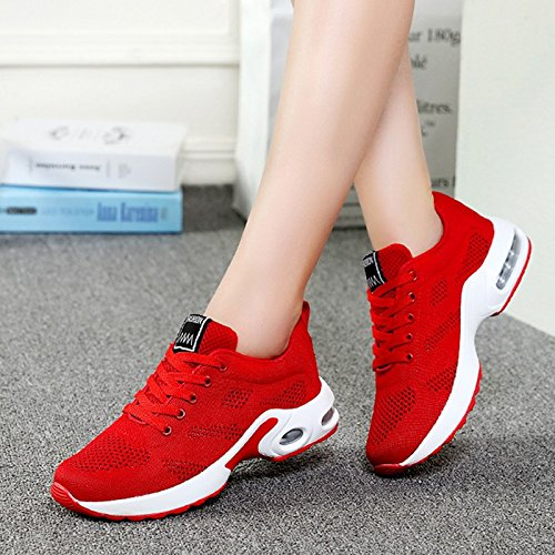Onorevoli Ladies Scarpe Casual Donna Scarpe Casual Mesh Scarpe Ladies amp;G Lace Sportive NGRDX red Scarpe hollow 5npqxw0t