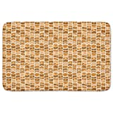 Patchwork Solar Memory Foam Bath Mat: Large