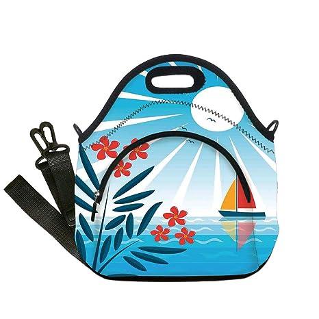 cd533319022b Amazon.com: Insulated Lunch Bag, Neoprene Lunch Tote Bags, Nautical ...