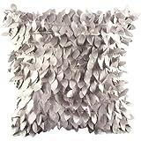 Squre Pillowcase,Kingko® Women Bedding Feather Shape Fashion Decoration Pillow Covers for Car Sofa Cushion Cases (Gray)