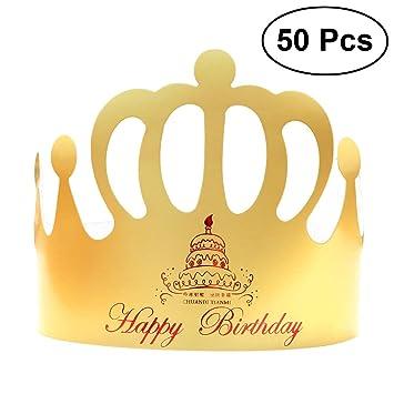 LUOEM HAPPY BIRTHDAY Hat Party Tiara Hat Corona de ...