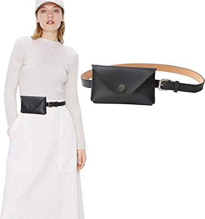 Ladies Plain Metallic Fanny Pack belt Bag Zipped pocket Gold Travel night Out