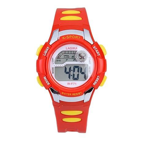 Vanpower Niños Niños Natación Deportes Reloj Digital w-F71 impermeable rojo