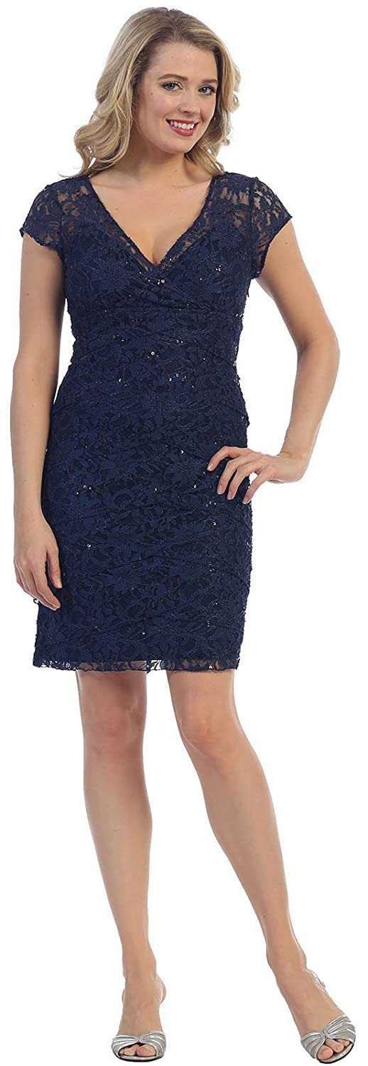 be47d11ee9 May Queen MQ973 Short Mother of The Bride Dress at Amazon Women s Clothing  store