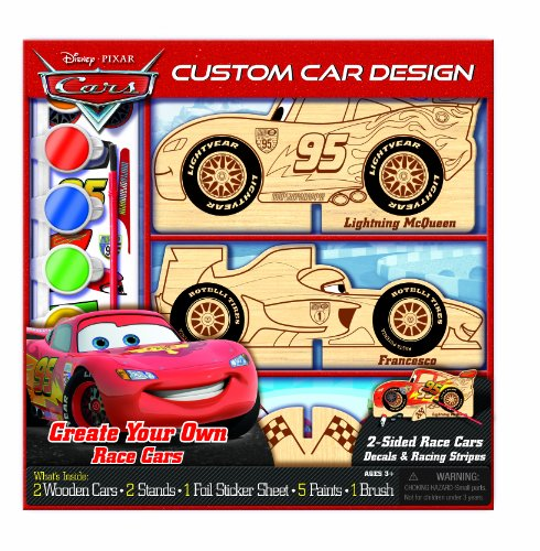Bendon Disney Pixar Cars Wooden Color and Craft (Wooden Car Race)